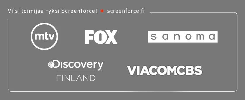 Neljä toimijaa - yksi Screenforce! screenforce.fi